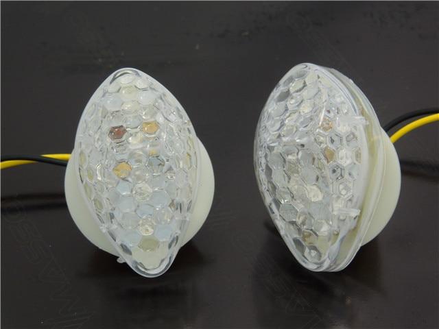Clear LED Flush Mount Turn Signal Indicator Blinker Light Lamp For Honda CBR600 CBR1000RR CBR 900 929 954 F4/F4i 2004-2007