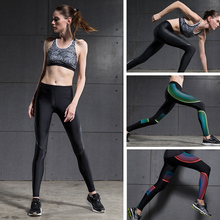 Hot Sales! New Push-up Leggings Summer Men Women Skinny Elastic Patchwork Print Sporting Leggings Pants Fitness Clothing