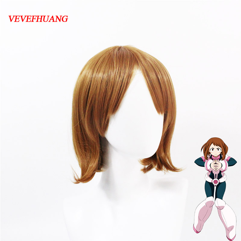 VEVEFHUANG Anime Boku no Hero Academia OCHACO URARAKA Wigs Cosplay Costume My Hero Academia Women Hair Halloween Party Wig