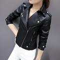 Fashion leather jacket women classic Short female leather jacket locomotive style women's sheepskin coat XY2013