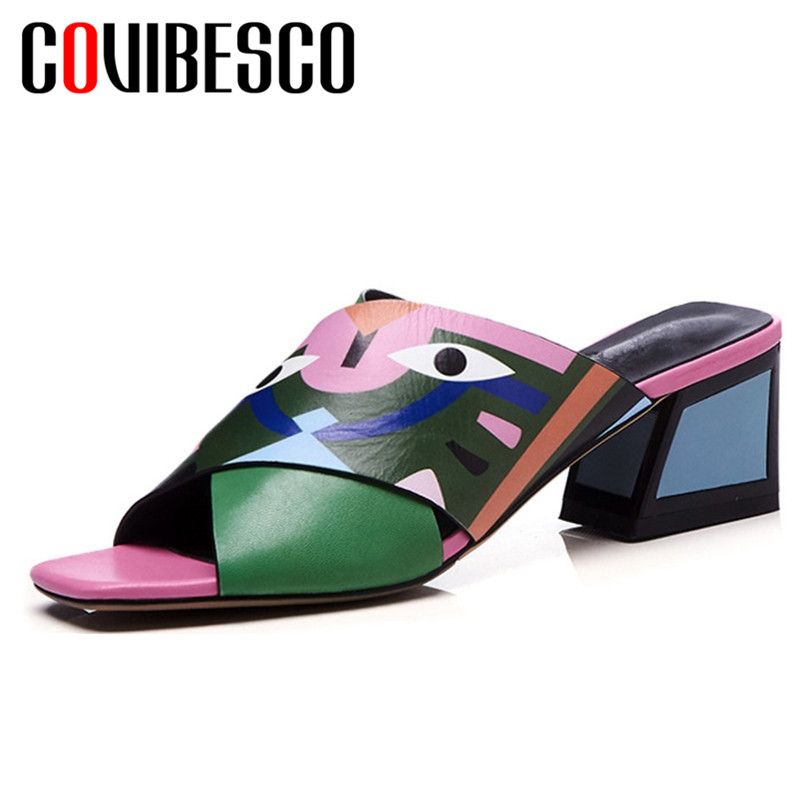 COVIBESCO 2019 Newest Women Pu Leather High Heels Summer Shoes Woman Sexy Open Toe Prints Sandals Party Wedding Shoes WomanCOVIBESCO 2019 Newest Women Pu Leather High Heels Summer Shoes Woman Sexy Open Toe Prints Sandals Party Wedding Shoes Woman