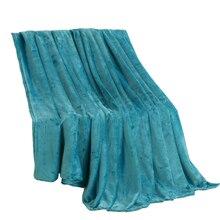 Jagdambe Коралловое Флисовое одеяло, Однотонное голубое полиэфирное клетчатое покрывало на кровать, двуспальное одеяло большого размера из искусственного меха на кровать