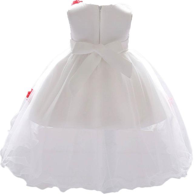 Bébé Filles Fleur Partie Robes De Mariage Princesse Baptême Robe D'anniversaire Tenues Dentelle Tutu Robe Infantile Vêtements Pour Enfants