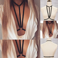 Jlx. body harness arnés jaula sujetador topless lencería erótica bondage peekaboo plunge club de burlesque rizada bailarina o0406