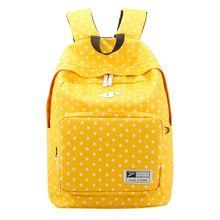 Школьные сумки для подростков девочек 2016 новый милый dot печати цветочные холст молния мешок пакет высокой емкости bookbag рюкзаки(China (Mainland))