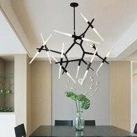 6 10 14 Head Modern Black Gold Hill Agnes Diner Cafe Pendant Lights Minimalist Branch Nordic