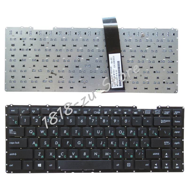 Laptop US Keyboard for Asus X401 X401A X401U X401K X401E Black Palmrest cover