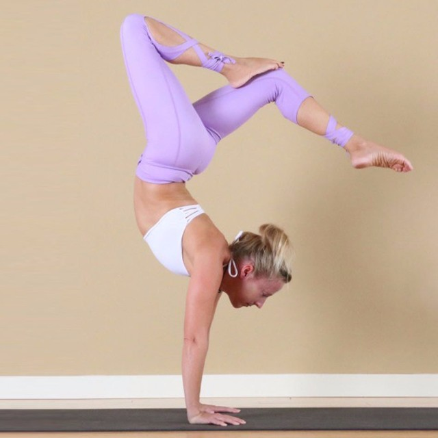 Pink Yoga pants Ballet Spirit Bandage Workout infinity Turnout Leggings For Women Lavender For Dance