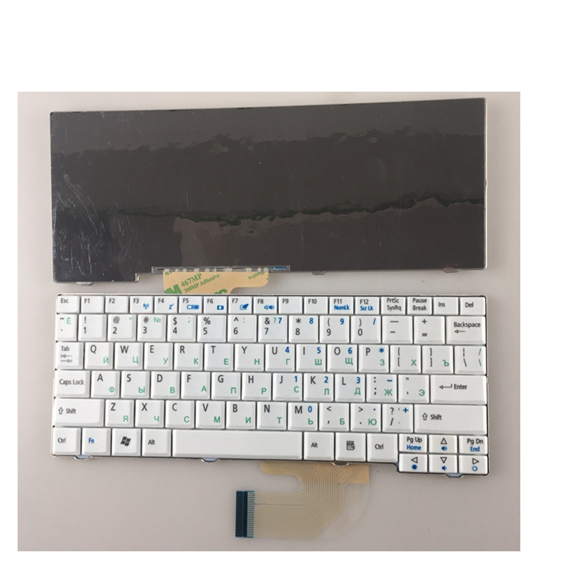 Russian Keyboard for Acer for Aspire One ZG5 D150 A150 A150L ZA8 ZG8 D210 D250 A110 Emachines EM250 RU white keyboard клавиатура topon top 73401 для acer aspire one a110 a110x 110l 150 a150x 150l zg5 series d250 series white