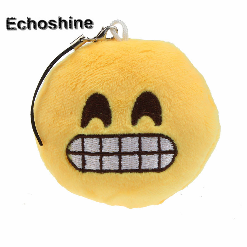 Charm Women Bag Accessories  Cute Emoji Smiley Emoticon Amusing Gift Pendant Bag Accessory A1000