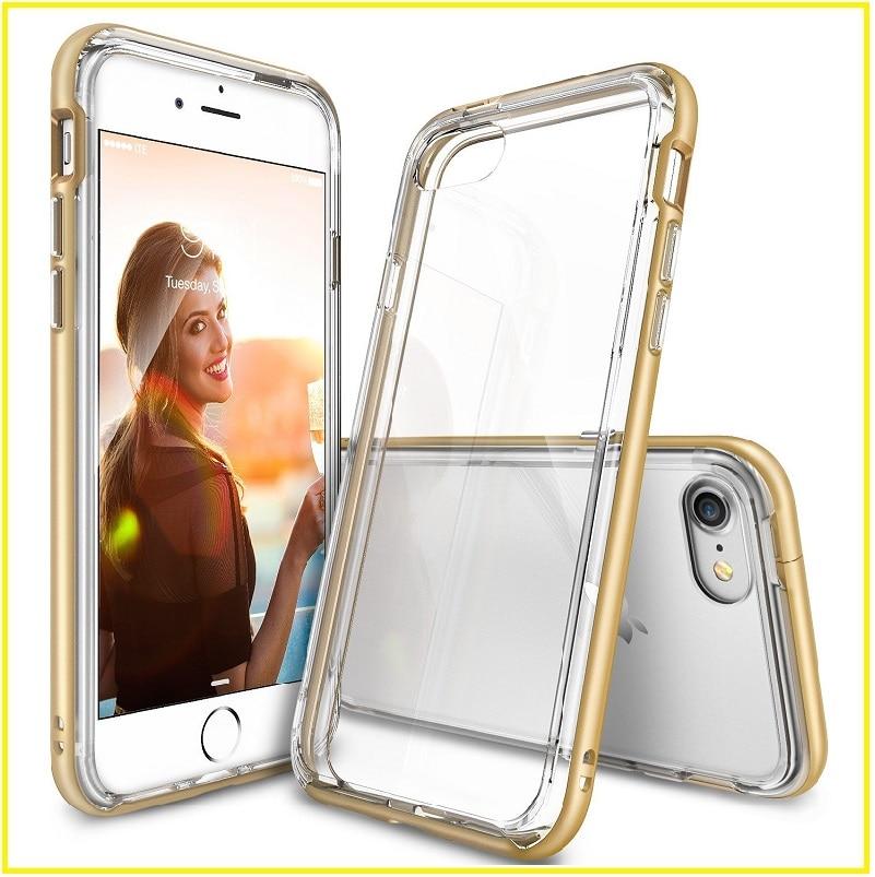 imágenes para Ringke fusión doble capa caja del teléfono de tpu + pc transparente para el iphone 7/7 más la absorción de choque de protección para iphone 7/7 además de la cubierta