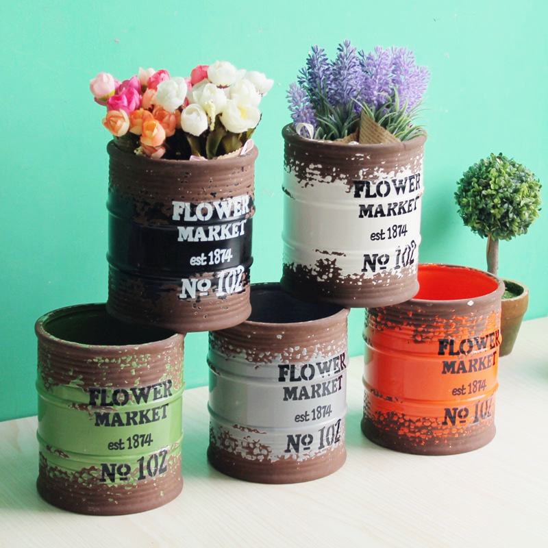 Creative céramique do ancienne boîte de rangement ménage salon fleur pot décoration vintage décor à la maison