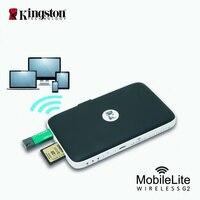 Kingston mobielite sem fio g2 multifunction sharer transmissor wi fi leitor de cartão sem fio estender o seu telefone e tablet memória|Leitores de cartão| |  -