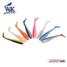 W&K Brand T-tail Soft Plastic Fishing Lure–PVC Sea Bass Fishing Swimming Shad Bait 13cm*4pcs #J1501-130
