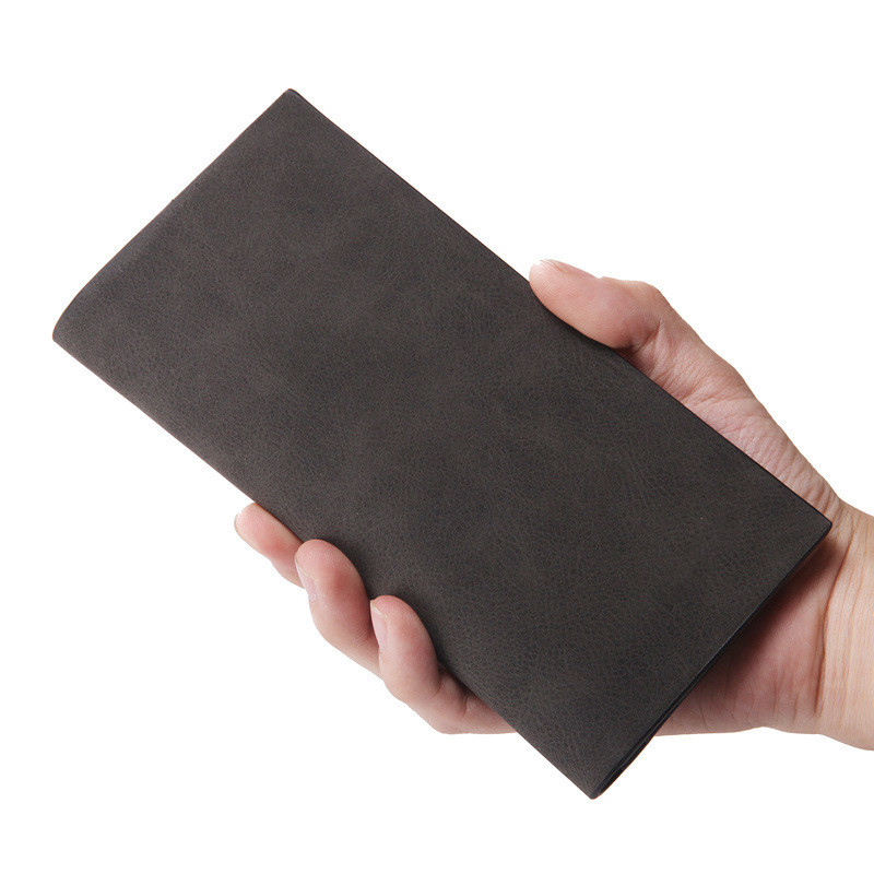 2019 Men Wallet PU Leather Long Clutch Wallets For Men Designer Bifold Leather Wallet Male Coin Pocket Card Holder Slim Purse in Wallets from Luggage Bags