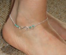 2016 New Summer Foot Jewelry Silver Tone Love Beads Infinite Ankle Bracelet Chain Foot Anklet B58