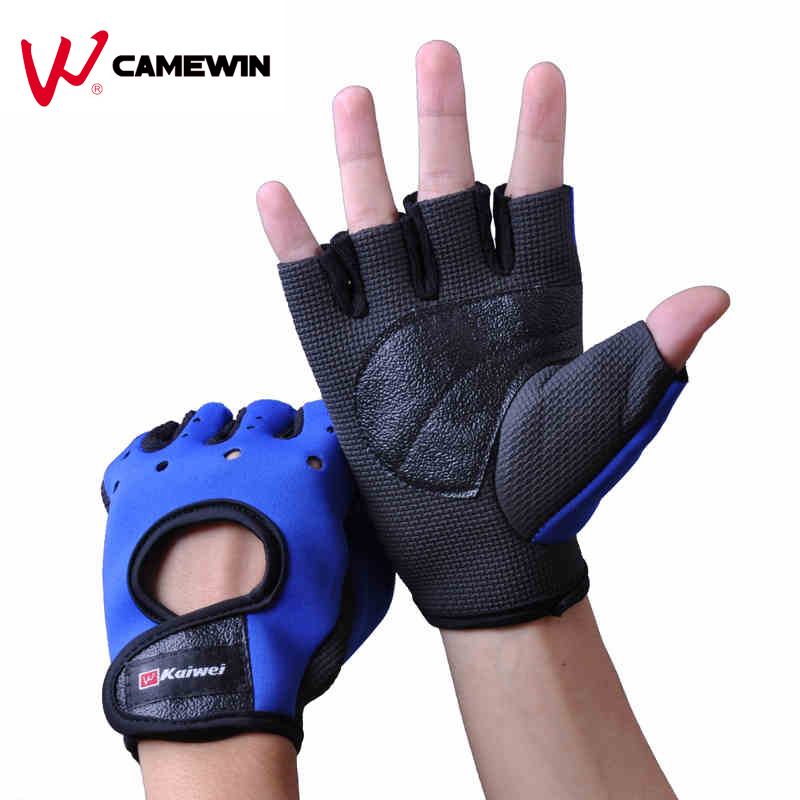 Anti Slip Breathable Outdoor Sports Cycling Gloves Black Bike Fishing Mountaineering Bicycle Half Finger Gloves Protector