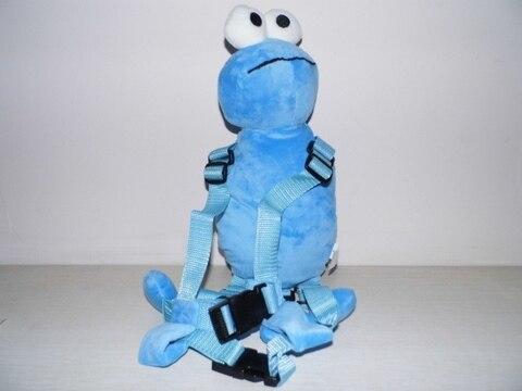 Goldbug Harness Buddy Blue Elmo 2-in-1 Harnesses Backpack Baby Plush Toy Bag Toddler Learning Walking Assistant Child Walker