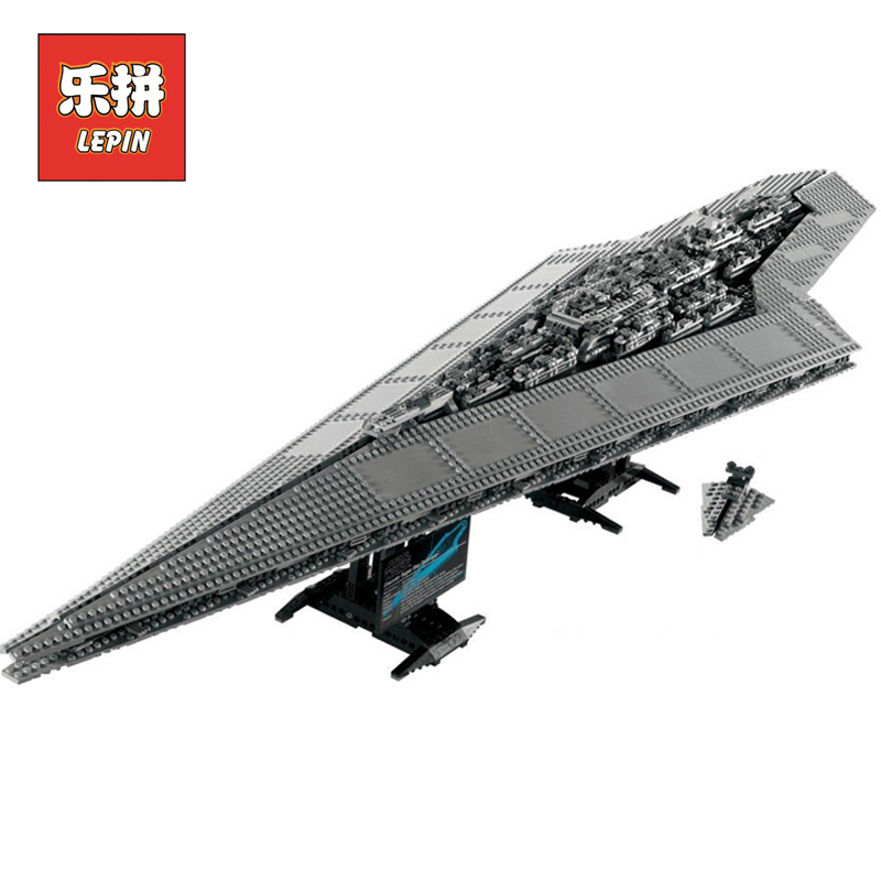 Lepin 05028 Stars Series War Execytor Super Destroyer DIY Set Model Building Kits Blocks Bricks Children Toys Christmas Gift ynynoo lepin 02043 stucke city series airport terminal modell bausteine set ziegel spielzeug fur kinder geschenk junge spielzeug