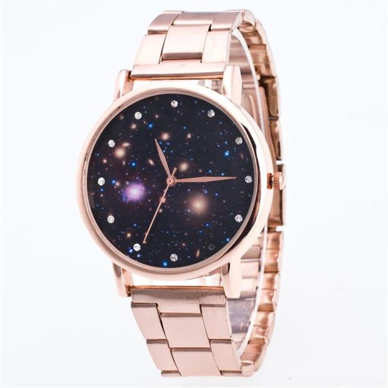 blue shope#3001 Woman Mens Retro Design Alloy Band Analog Alloy Quartz Wrist Watch