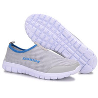 2017 New Summer Breathable Men Casual Shoes Mesh Shoes Slip On Soft Size 38 46 Men