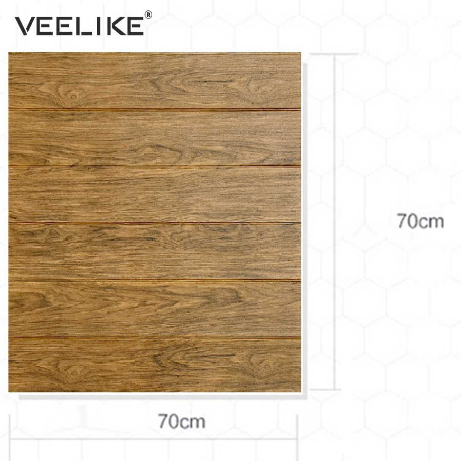 3d Wood Wallpaper Rustic Pe Form Vinyl Brown Faux Plank 3d Self Adhesive Wall Paper Stickers For Bedroom Living Room Home Decor