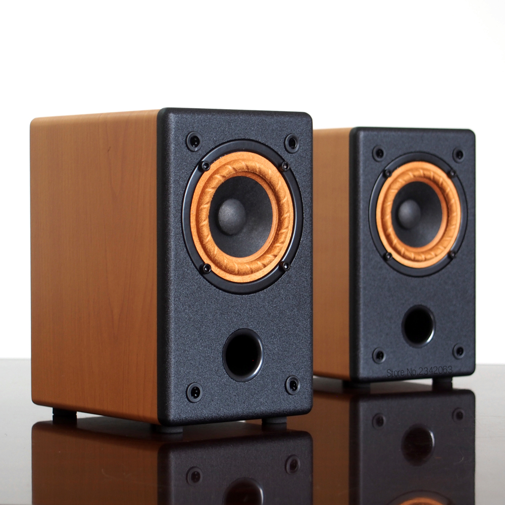 high fidelity 3 inch passive full range speaker desk style hi fi box computer monitor box hifi. Black Bedroom Furniture Sets. Home Design Ideas