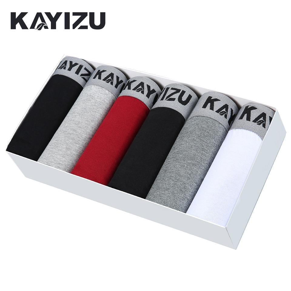 KAYIZU Panties Men 6pcs/lot Cotton Boxers Underpants For Men Underwear Breathable Boxer Shorts Men Boxer Sexy Mens Underwear Lot