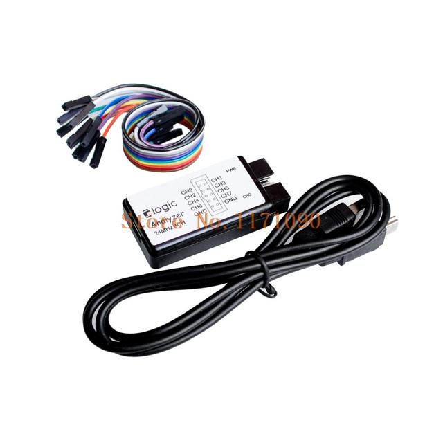 1sets New Arrival USB Logic Analyze 24M 8CH