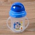 Botella de Consumición del bebé Niños De Paja Taza Actualizado Durable Tazas para bebés Con asas Diseño Lindo Biberón