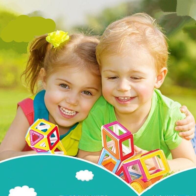 148 pièces Mini Magformers Magnétique Designer Blocs de Construction Modèles jouets pour enfants En Plastique Modèle Kits jouet éducatif pour Les Tout-petits