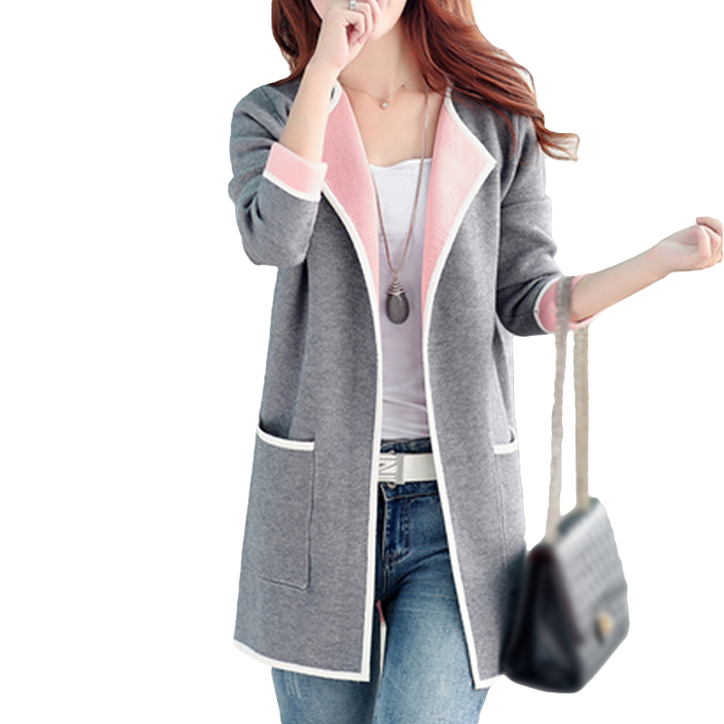 5XL Autumn Winter Jacket Women Coats 2019 Plus Size Knitted Cardigan Jackets Female Outerwear Casual Pocket Coat Jaqueta Mujer(China)