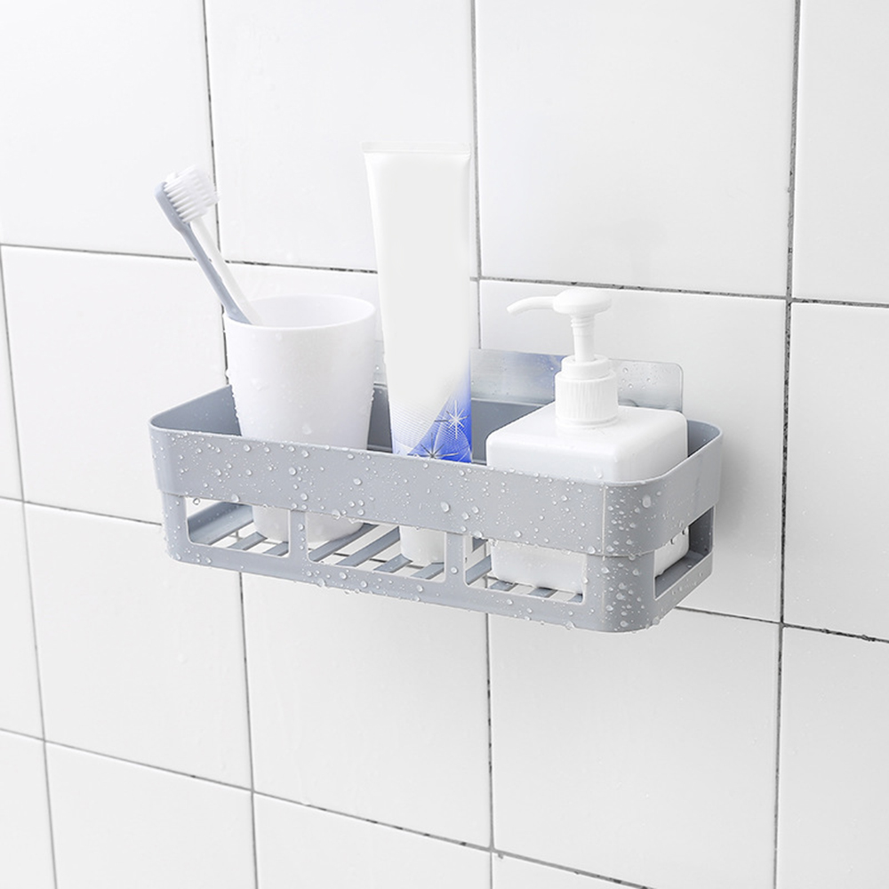 Bathroom Shelf Corner Shower Shelf 3 Colors Badkamer Adhesive Rek Storage Rack Kitchen Home Decoration Hot Bathroom Accessories