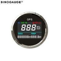New Digital GPS speedometer 52mm 2inch Motorcycle LCD GPS Speedometer free shipping 2018 kph mph programmable universal Gauge