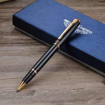 Hero 1079 Black Metal Rollerball Pen Noble Luxury Ballpoint/Sign/Writing Pens Free Shipping - DISCOUNT ITEM  20% OFF All Category