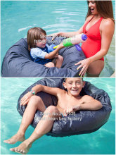 Kids great enjoyment bean bag furniture on pool ,  swimming waterproof beanbag sofa chair