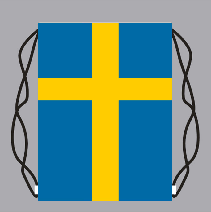 Drawstring Backpack Swedish Flag Bags