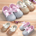 Hot sale Elegant Glitter baby shoes sneaker anti-slip soft sole toddler size 0-18 months
