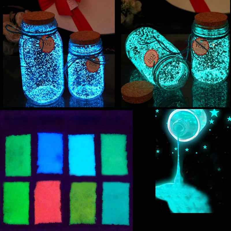 Glow in the dark 10g Luminous Party DIY Bright Paint Star Wishing Bottle Fluorescent Particles brinquedos toys