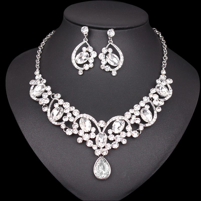 Aliexpress.com : Buy New Elegant Bridal Necklace Earrings