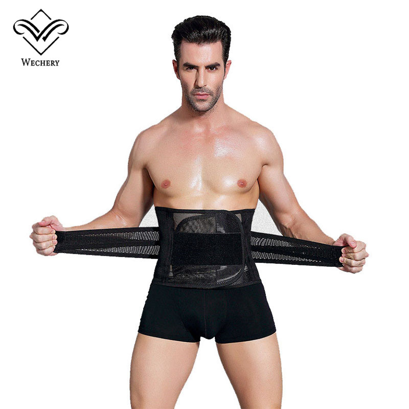 Wechery Modeling Straps Waist Trainer Men Slimming Belt Belly Corset For Men Body Shaper Faja Reductora Abdomen Cinta Modeladora