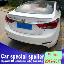 New style spoiler for HYUNDAI  ELANTRA 2012 2013 2014 2015 2016 2017 high High hardness and quality ABS by primer paint