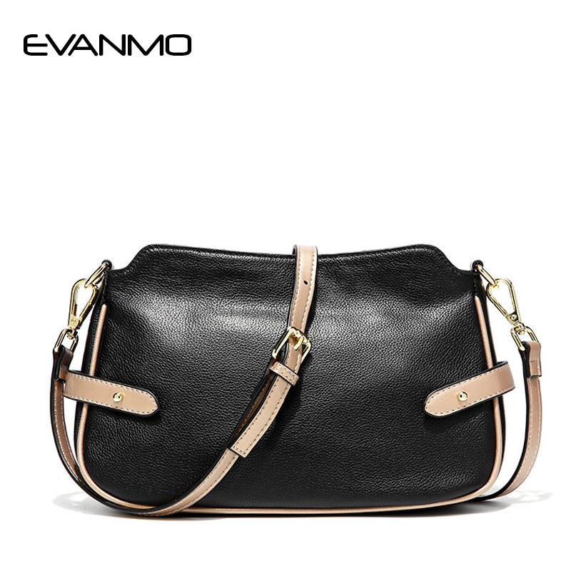 Fashion Women Leather Messenger Bag Quality Cow Leather Women's Flap Bag Leather Strap Female Shoulder Bag Lay Crossbody Bags цена