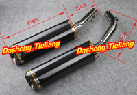 For 09 12 YZF R1 Exhaust Muffler Silencer Carbon Fiber Stainless Steel High Quality Motorcycle Spare