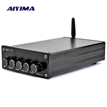 Aiyima bluetooth 4.2 서브 우퍼 오디오 증폭기 100 w hifi 스테레오 tpa3116 디지털 2.1 채널 데스크탑 전력 증폭기 amp 50 w * 2