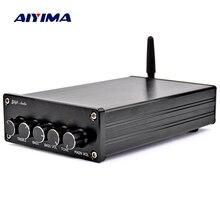 Aiyima bluetooth 4.2 amplificador de áudio subwoofer 100 w estéreo alta fidelidade tpa3116 digital 2.1 canais desktop amplificador potência 50 w * 2