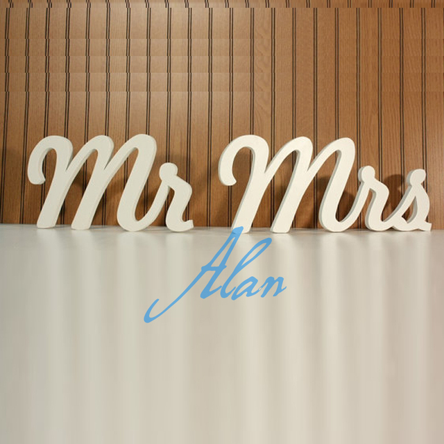 free shipping n mr and mrs photography prop wooden alphabet letters