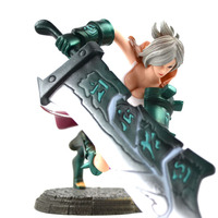 LOL 15cm PVC Action Figure Toy Decor Recasting Broken Sword Raven Funs Kids Toy Online Game Collection Doll Heros Figurine RT061