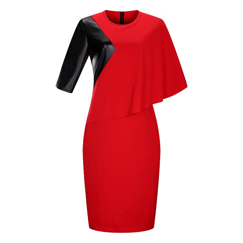 2018 New Designer Women Dress Plus rozmiar 6XL Jesień Vestidos Maxi - Ubrania Damskie - Zdjęcie 5
