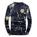 2016 мужская нового способа прибытия О-Образным Вырезом печатных согреться высокое качество 95% шерстяной свитер, M, L. XL. XXL.